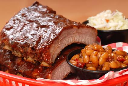 Smoked ribs Uncle Sams BBQ