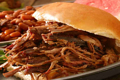 Pull pork sandwich uncle Sams bbq