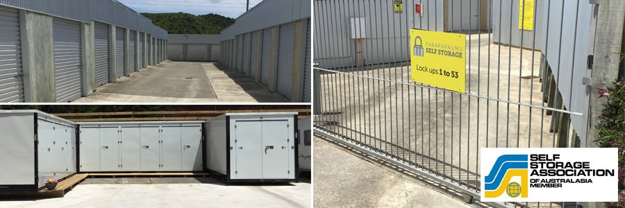 Montage of storage in Paraparaumu and Kapiti Coast
