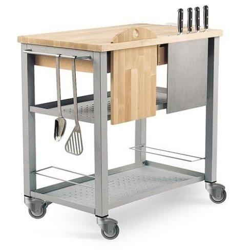 carrello per cucina, carrello chef, carrello con mestoli