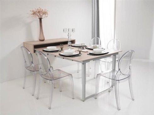 sedie in plastica, tavoli scomponibili, sedie trasparenti