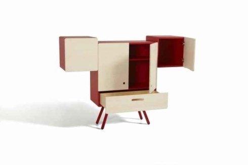 mobile design, mobile con cassetti, mobile in legno