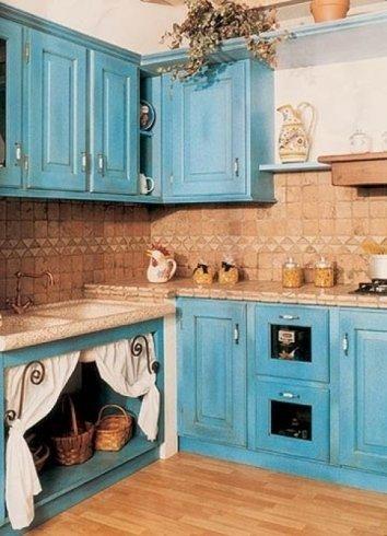 cucine azzurre, cucine celesti, cucine colorate