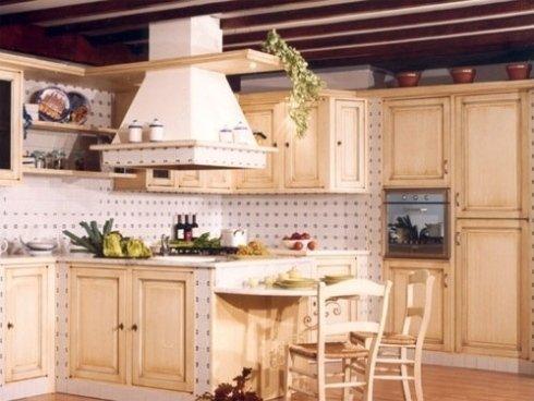 cucina panna, cucine avorio, cucine in legno