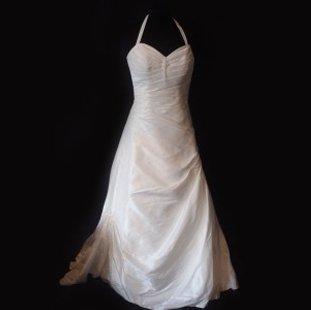 A strappy wedding dress