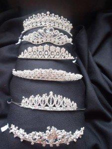 Six beautiful tiaras