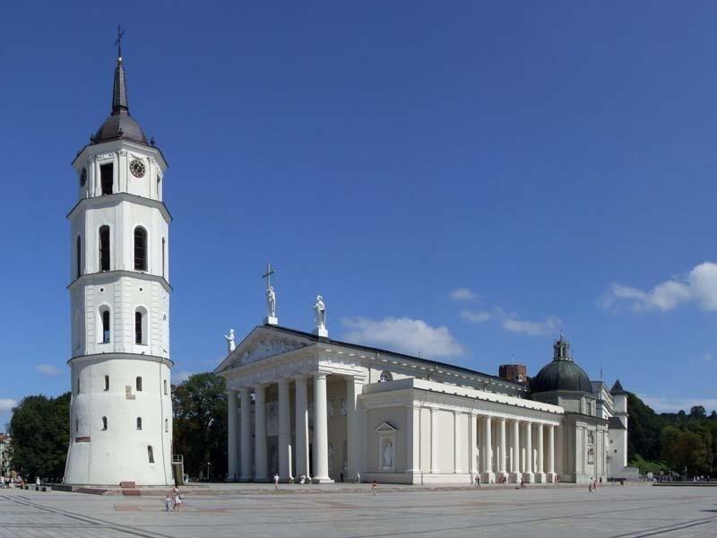 Vilnius Piazza della Cattedrale