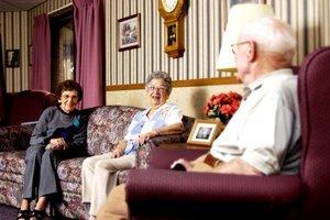 Sala tv, sala ricreativa, giochi anziani