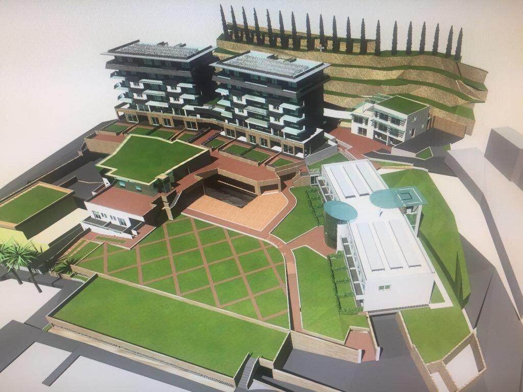 disegno 3D di un complesso residenziale