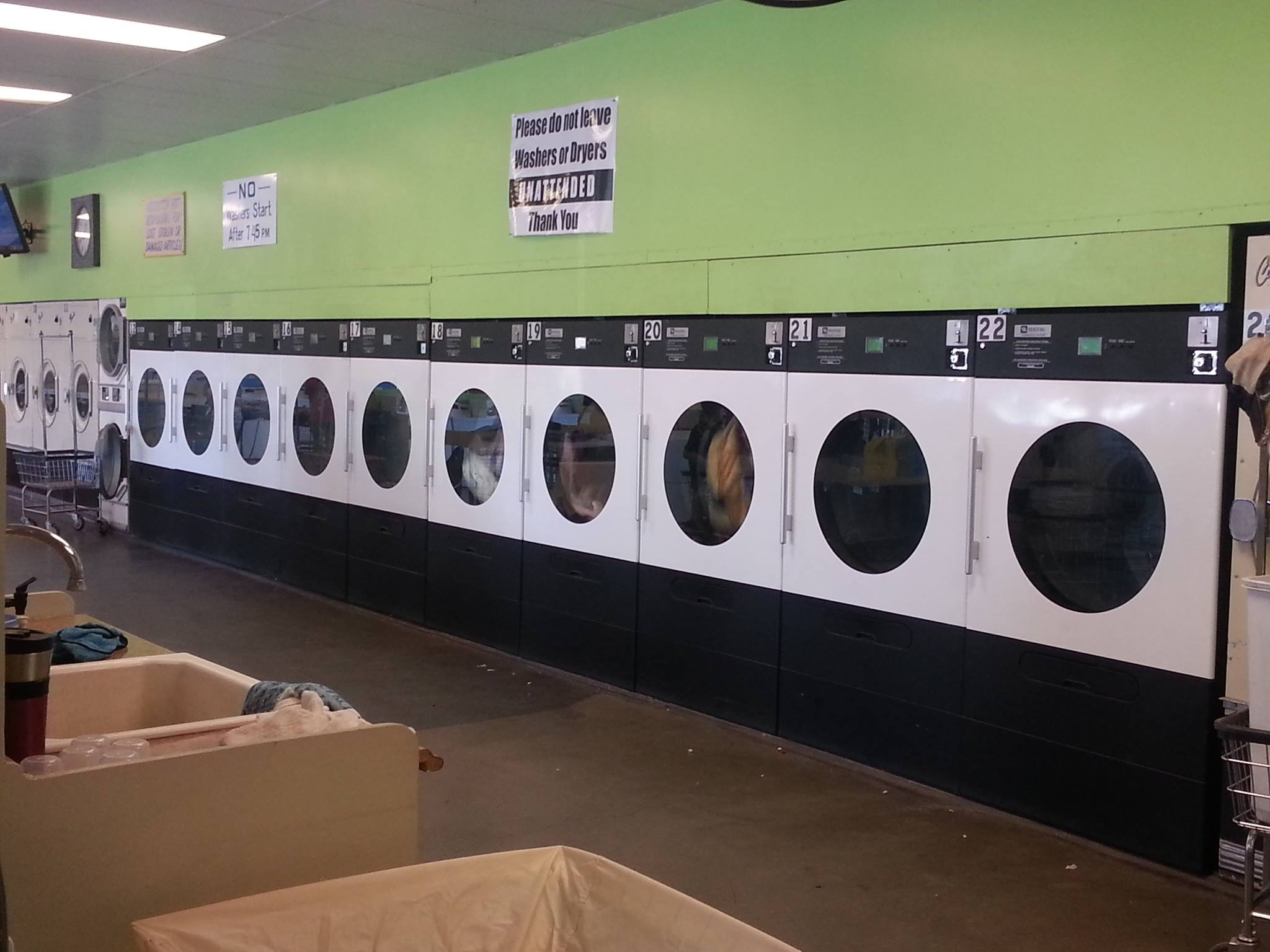 Get your clothes done FAST! Large dryers make it easy to get your clothes dry in a hurry.