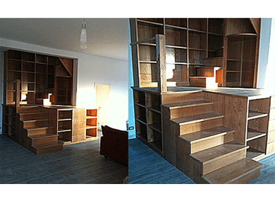 Infissi e librerie in legno