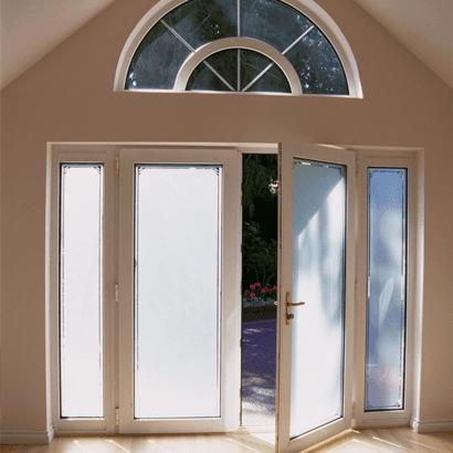 white framed open window