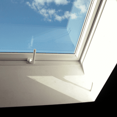 skylight with white frame