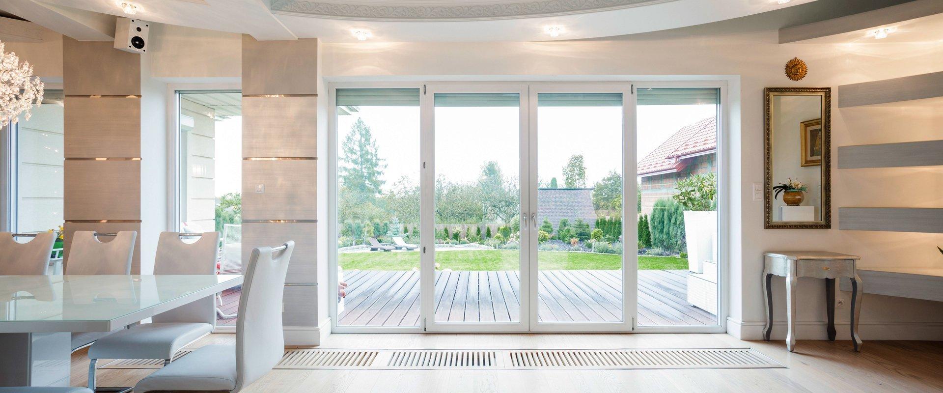 white framed doors