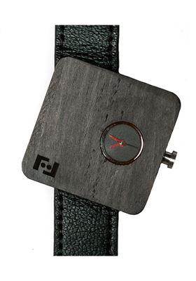 orologio legno ottica