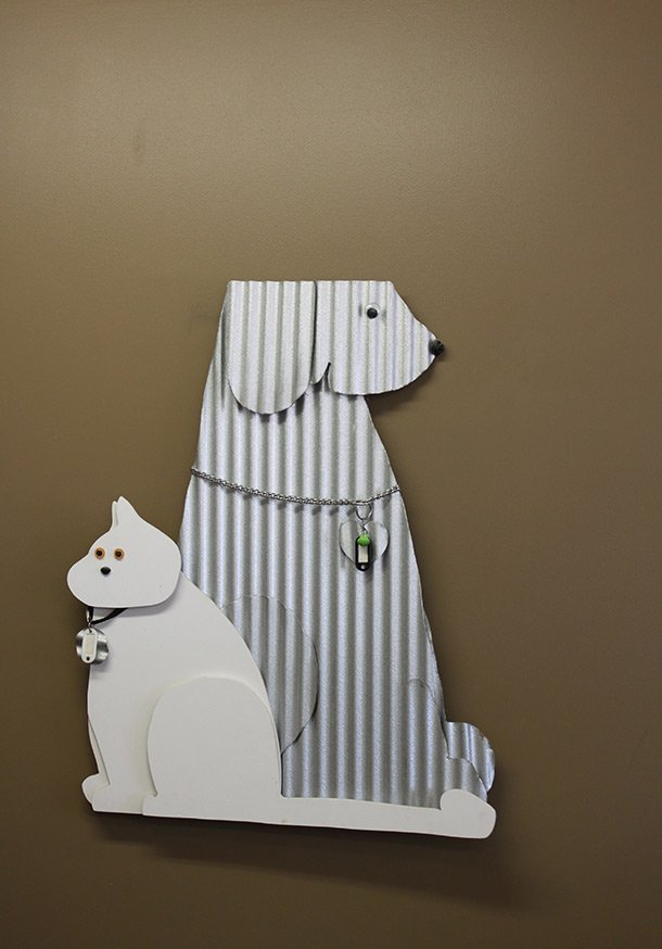 morphettville veterinary clinic dog and cat cardboard cut off