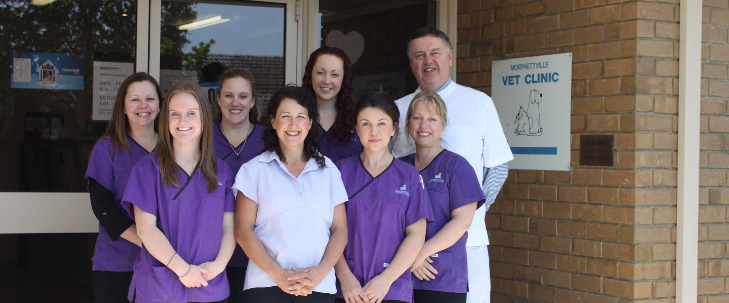 morphettville veterinary clinic our team infront of clinic