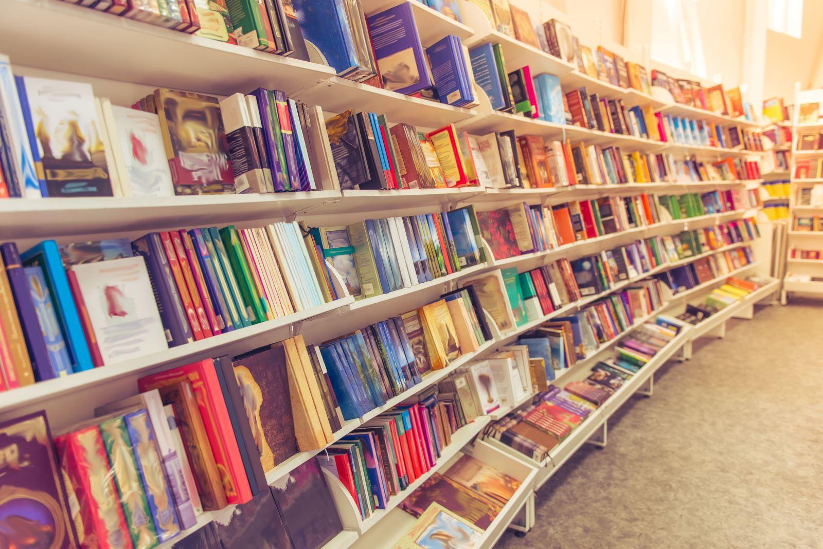 Esposizione di libri in libreria
