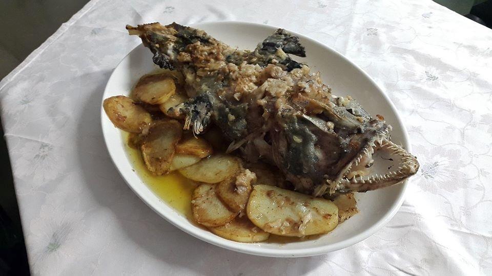 pesce al forno con patate