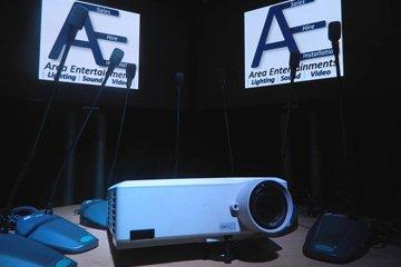 Audio-visual equipment for hire