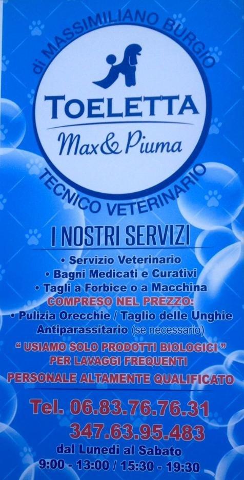 servizi toeletta Max&Piuma
