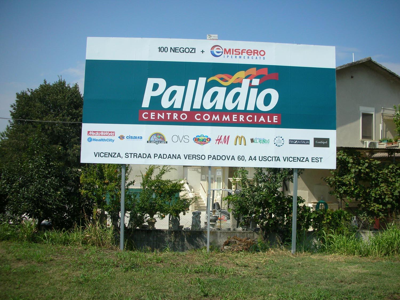 cartellone PALLADIO CENTRO COMMERCIALE