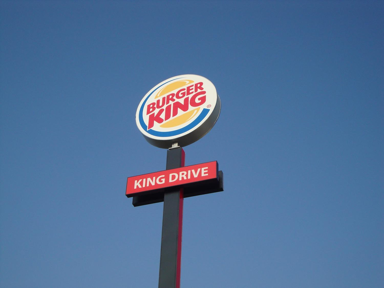 totem BURGER KING visto dal basso