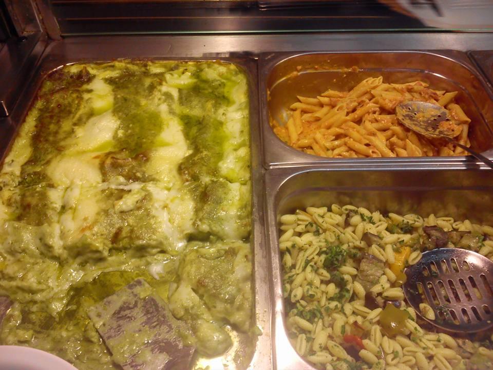 Pasta and green lasagna