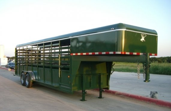 24FT GNECK Stock Trailer