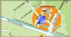 Mappa zona industriale