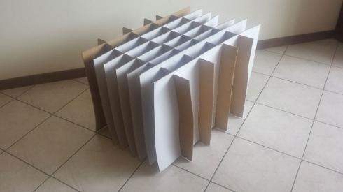 Contenitori in cartone con scomparti