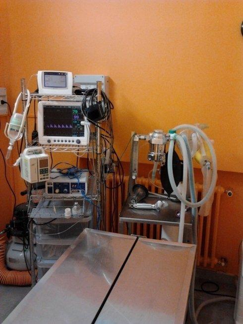 attrezzature di una clinica veterinaria