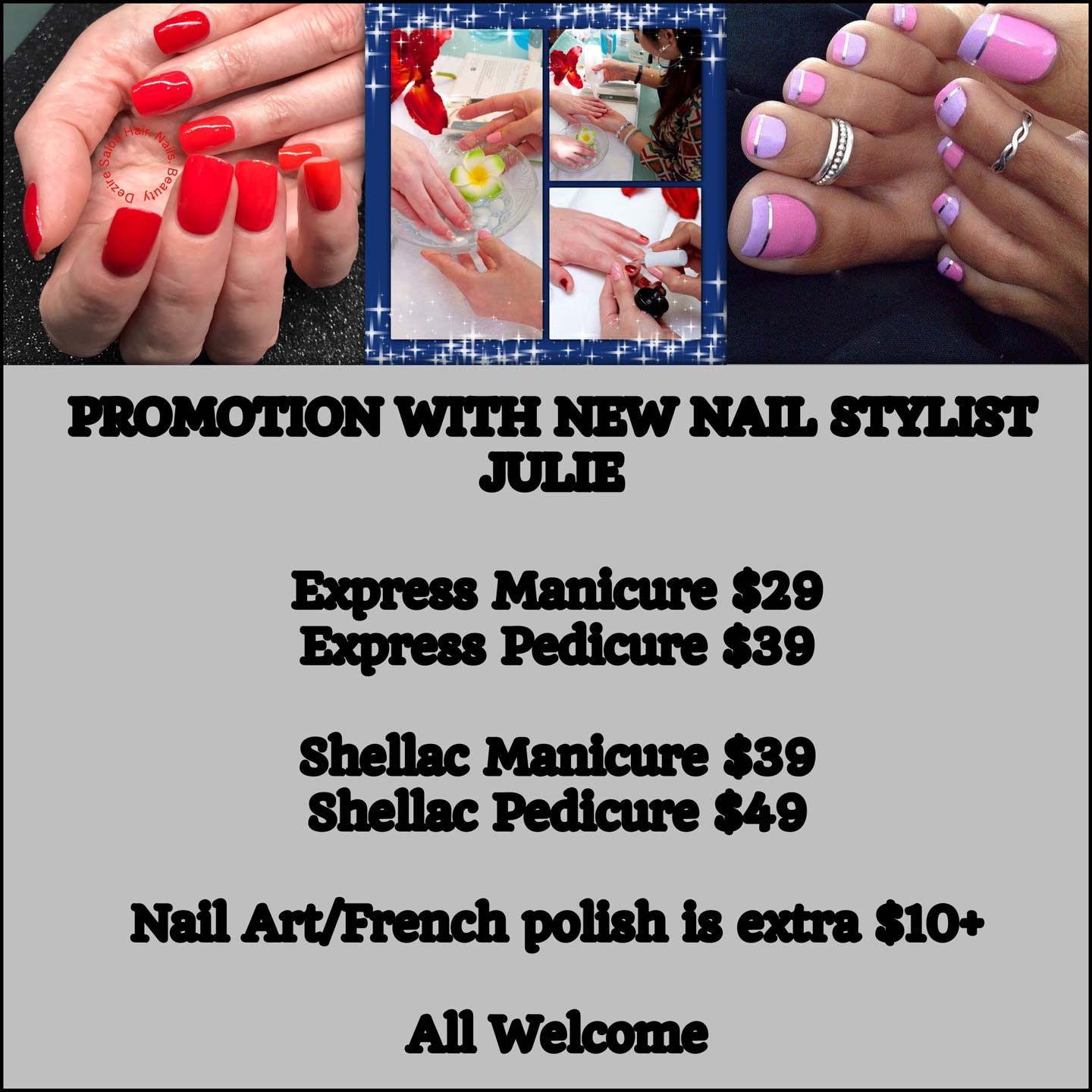 Price list of nails art