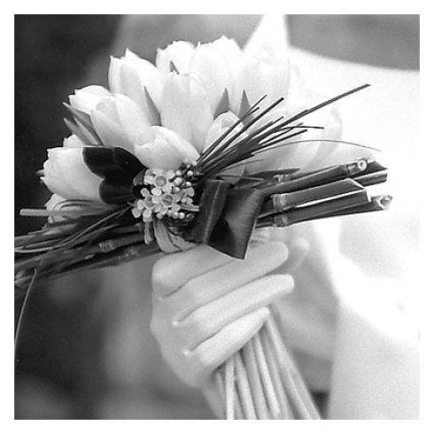 mazzo di tulipani da sposa
