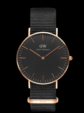 CLASSIC BLACK | 36MM CORNWALL  Daniel Wellington