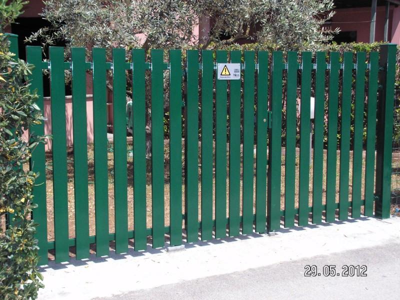 Palizzata di laminate verdi di metallo protettrice jardin