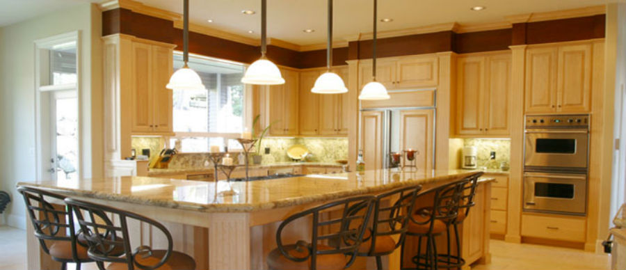 Kitchen lighted by a residential electrical contractor in Greater Cincinnati