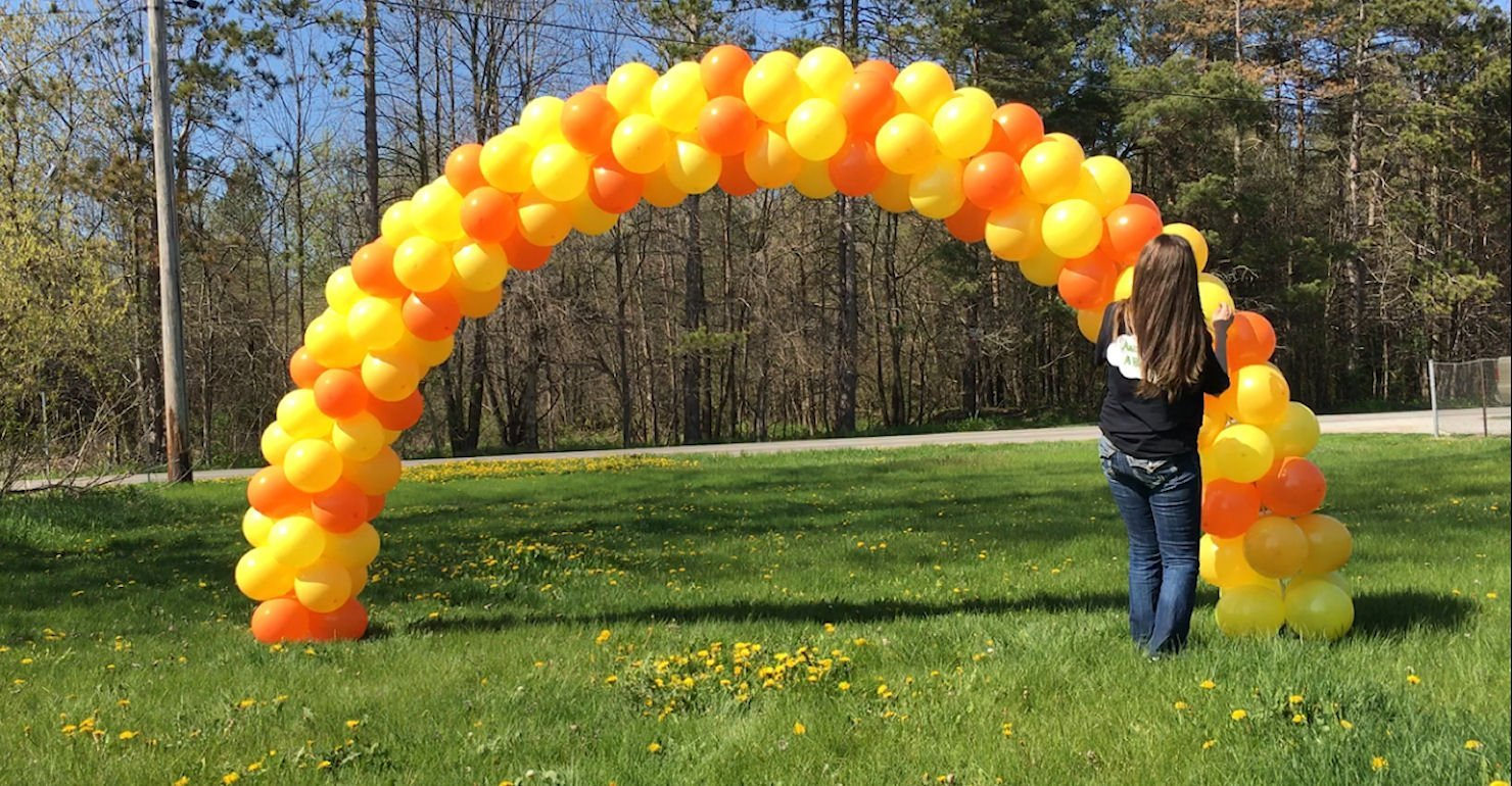 Balloon decoration video tutorials for Arches decoration