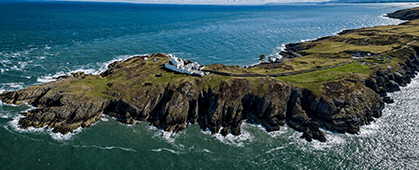 arial image of the lighthouse