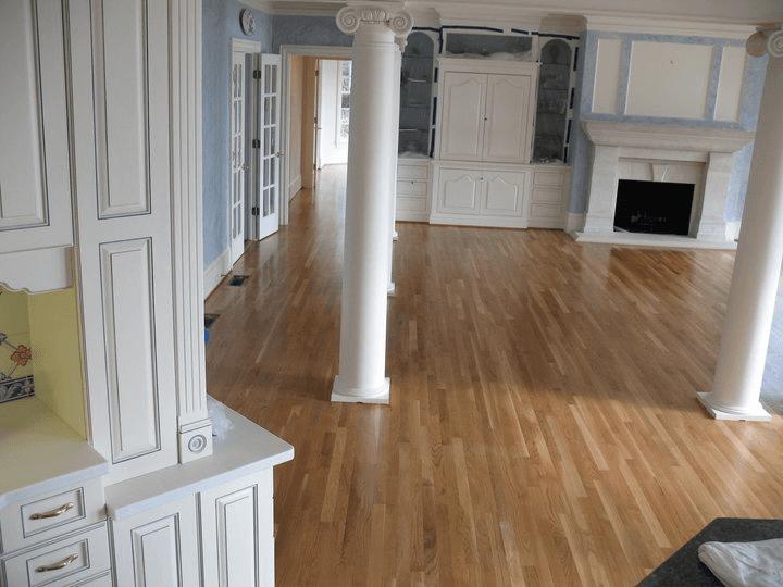 Floor refinishing work