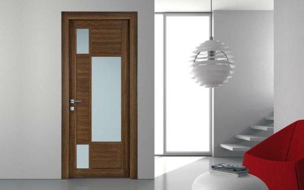 porta legno vetro