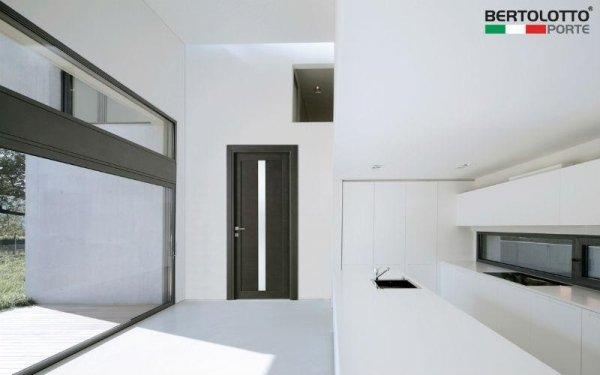 porta moderna marrone