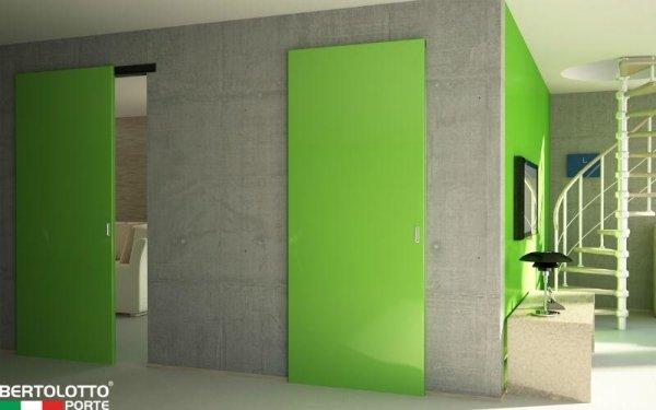 porte laccate verdi