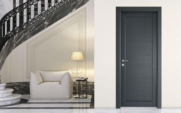 porta moderna nera