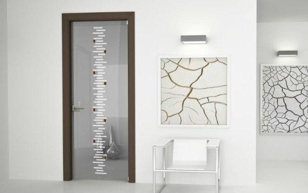porta moderna vetro