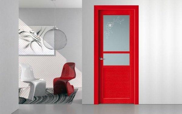 porta moderna rossa
