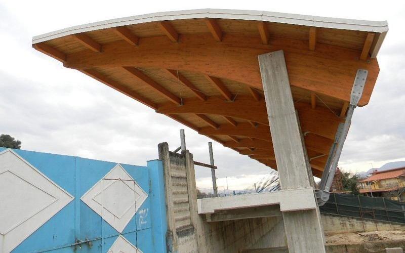 Copertura in legno lamellare: dettaglio