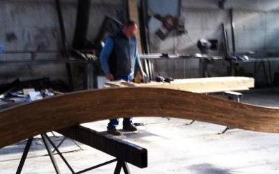 Realizzazione copertura in legno lamellare