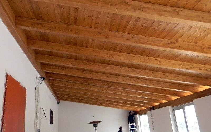 Copertura in legno lamellare per uso abitativo