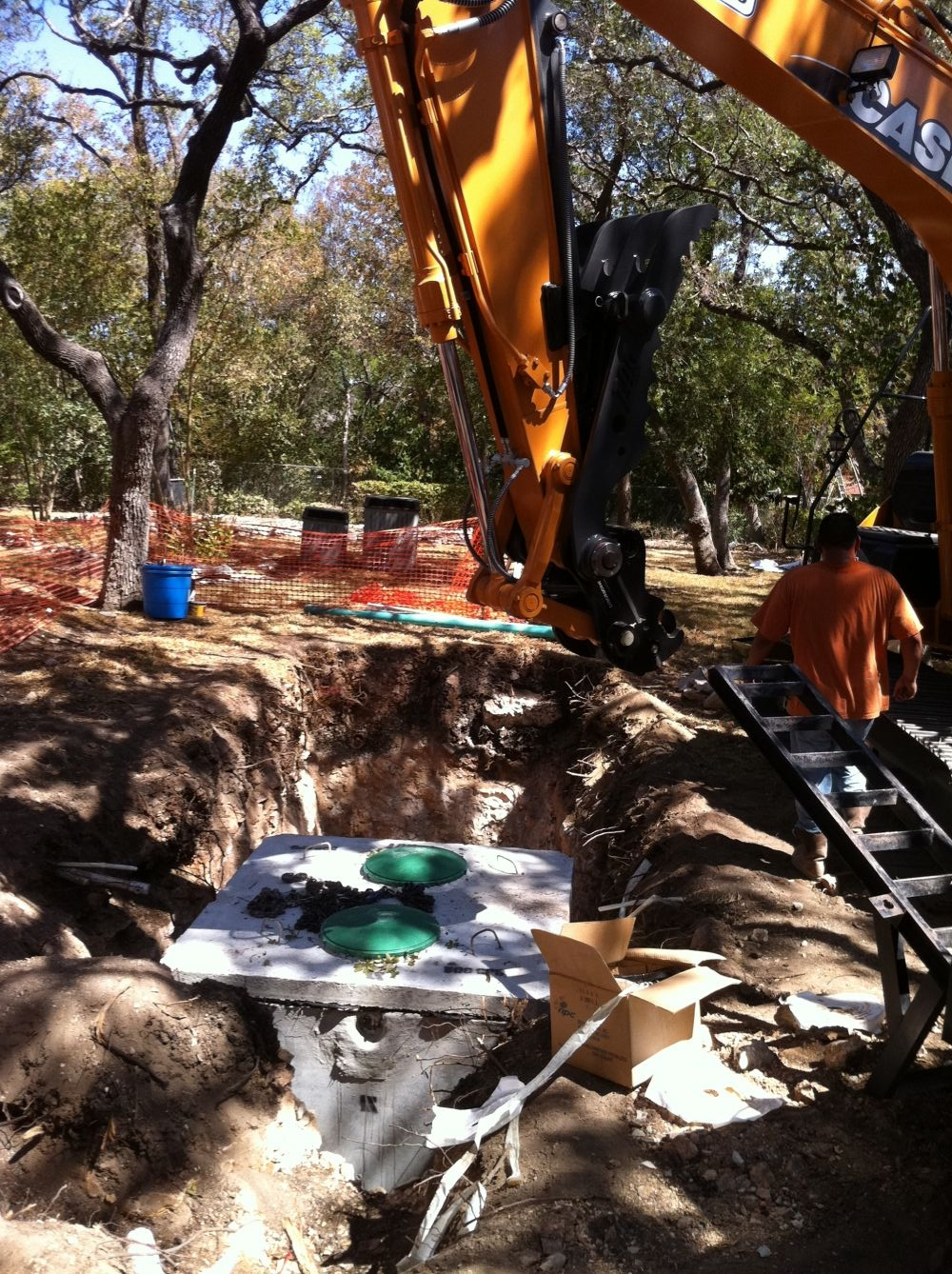 septic tank in New Braunfels, TX